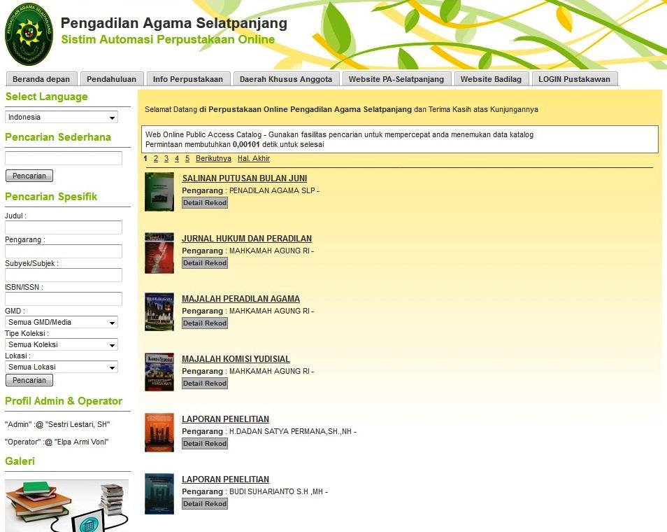 Pustaka Online PA Selatpanjang